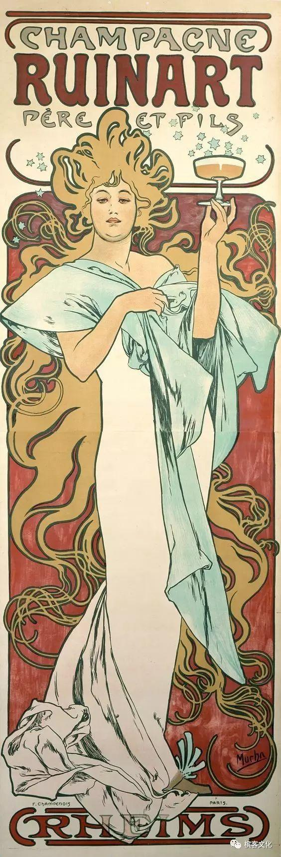 醉美香槟海报,回溯欧洲「美好时代」